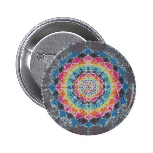 Tie Dye Kaleidoscope Button