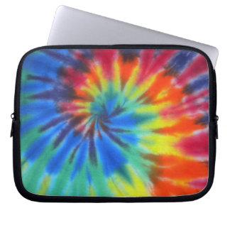 Tie dye laptop case