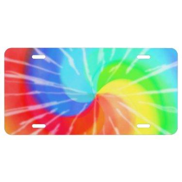 Tie dye license plate
