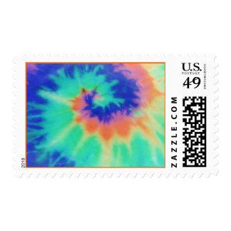 Tie Dye Look Retro Stamps