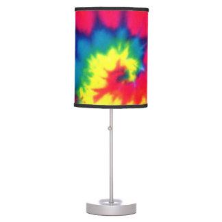 Tie Dye Look Table Lamp