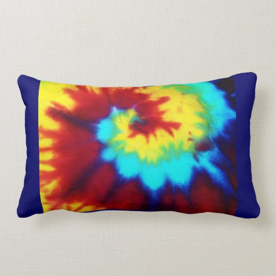 Tie Dye Look Throw Pillow