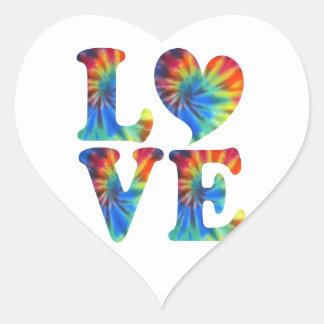 Tie Dye LOVE Heart Sticker