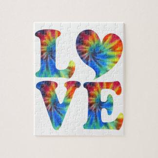 Tie Dye LOVE Jigsaw Puzzle