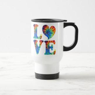 Tie Dye LOVE 15 Oz Stainless Steel Travel Mug