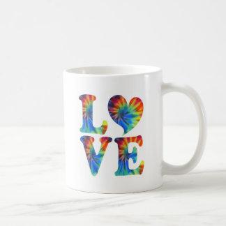 Tie Dye LOVE Classic White Coffee Mug