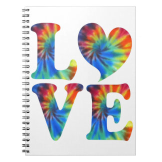 Tie Dye LOVE Notebook