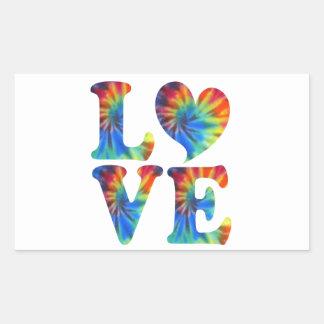 Tie Dye LOVE Rectangular Sticker