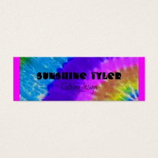 tie-dye mini business card