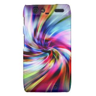 Tie Dye Multicolor Rainbow Electronic Swirls Droid RAZR Covers