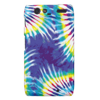 Tie Dye Multicolor Rainbow Swirl Motorola Droid RAZR Covers