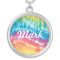 Tie Dye Name Necklace