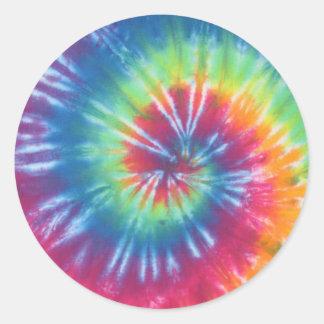 Tie Dye One Classic Round Sticker