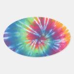 Tie Dye One Oval Sticker