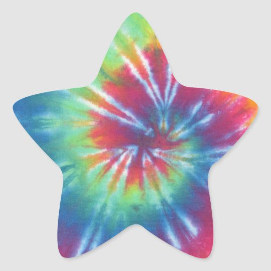 Tie Dye One Star Sticker