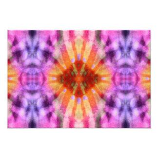 Tie Dye Orange Purple Radial Rays Spot Pattern Photo