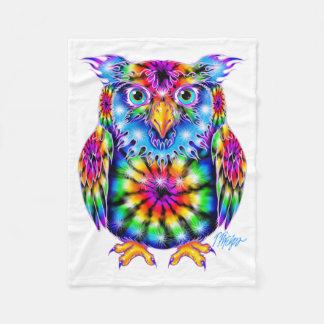 Tie Dye Owl Blanket Fleece Blanket