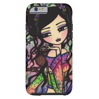 Tie Dye Owl Branches Asian Mermaid Art iPhone 6 ca Tough iPhone 6 Case