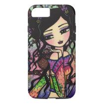 Tie Dye Owl Branches Asian Mermaid Art iPhone 7 ca iPhone 7 Case