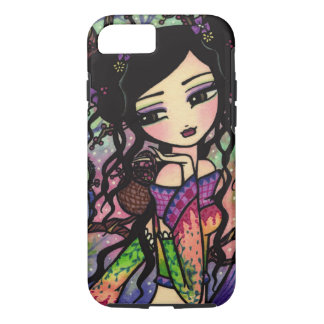 Tie Dye Owl Branches Asian Mermaid Art iPhone 7 ca iPhone 8/7 Case