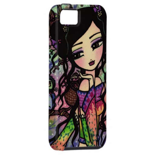 Tie Dye Owl Branches Asian Mermaid Art iPhone Case iPhone 5 Cover