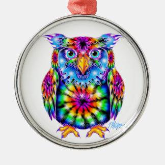 Tie Dye Owl Ornament