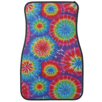 Tie Dye Pattern Hippies 70's colorful car decor Car Floor Mat