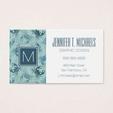 Beach Themed Tie Dye Pattern Of Crabs Business Card