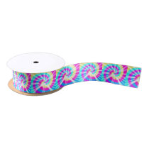 Tie Dye Pattern Satin Ribbon