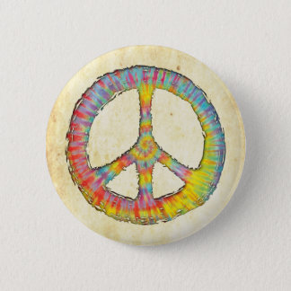 Tie-Dye Peace 713 Pinback Button