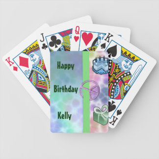 Tie Dye Peace Birthday Bicycle Playing Cards
