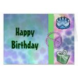 Tie Dye Peace Birthday Greeting Card