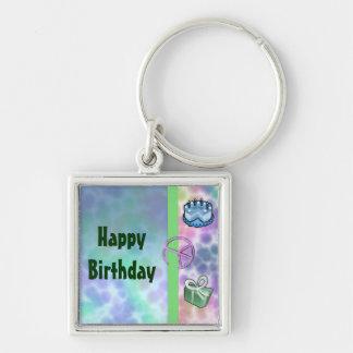 Tie Dye Peace Birthday Keychain