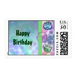 Tie Dye Peace Birthday Postage