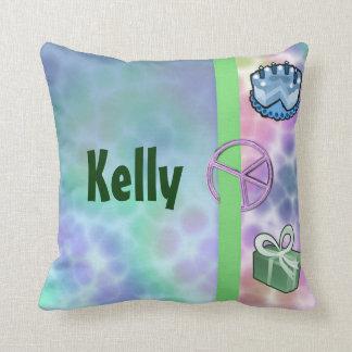 Tie Dye Peace Birthday Throw Pillow