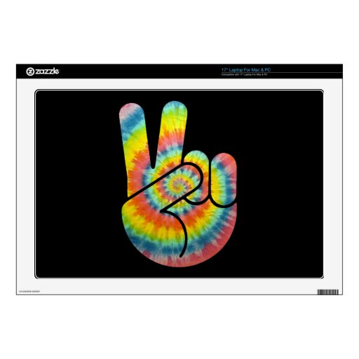 Tie Dye Peace Hand Skins For Laptops