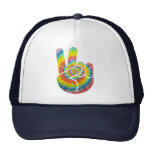 Tie Dye Peace Hand Trucker Hats