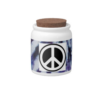 TIE DYE PEACE JAR!! CANDY DISHES