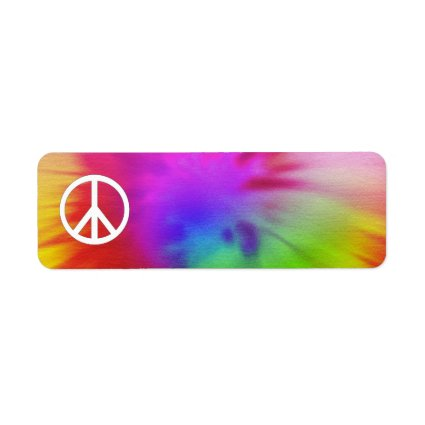 Tie Dye Peace Label Return Address Label