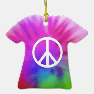 Tie Dye Peace Ornament