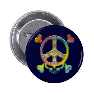 Tie-Dye Peace Pirate Button