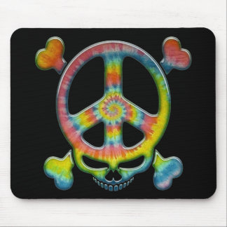 Tie-Dye Peace Pirate Mouse Pad