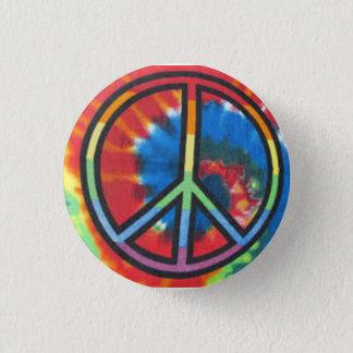 Tie Dye Peace Round Button