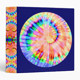 Tie Dye Peace Sign Binder