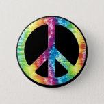 """Tie Dye Peace Sign button<br><div class=""""desc"""">tie dye peace sign</div>"""