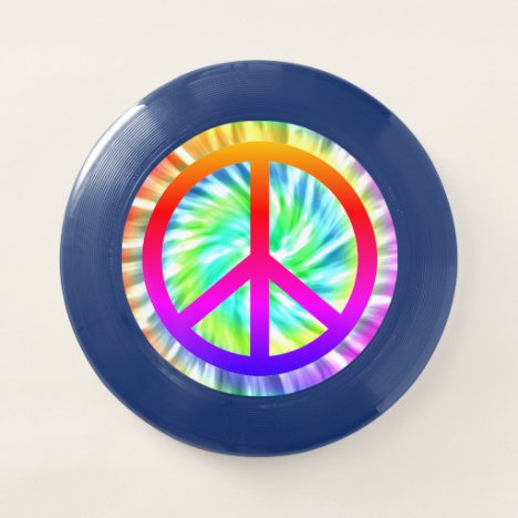 Tie Dye Peace Sign Design Wham-O Ultimate Frisbee