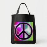 Tie Dye Peace Sign Designs Grocery Tote Bag