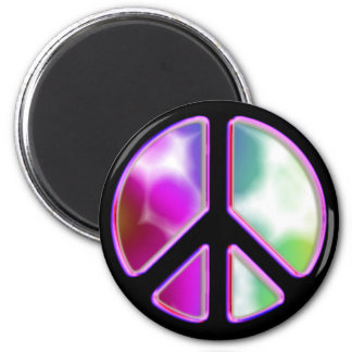 Tie Dye Peace Sign Designs 2 Inch Round Magnet