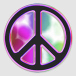 Tie Dye Peace Sign Designs Round Stickers