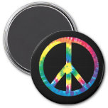 Tie dye peace sign magnet